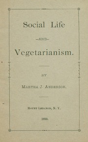 Social life and vegetarianism