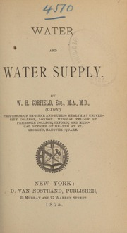 Water and water supply