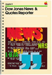 Dow Jones News and Quotes Reporter Manual : Apple Computer