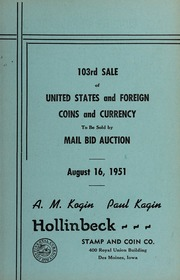 103rd Sale of United States and Foreign Coins and Currency