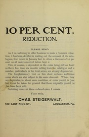 10 Per Cent. Reduction, July 1908