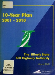 10-year plan for the Illinois State Toll Highway Authority