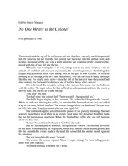 No One Writes To The Colonel Pdf
