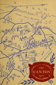 150 years of yesterday : dedicated to Cantons tomorrows, Canton, Massachusetts 1947