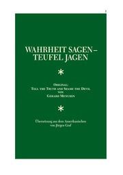 1605 Gerard Menuhin Wahrheit Sagen Teufel Jagen 100 X 3