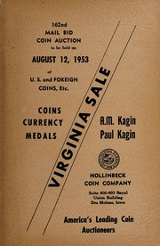 162nd Mail Bid Coin Auction of U.S. and Foreign Coins, Etc.