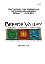 WC025 Breede Valley Draft Budget 2016-17
