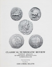 The Classical Numismatic Review: Vol. 17 No. 1