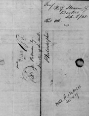 William G. Stearns to Robert M. Patterson, 9/8/1838