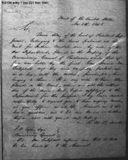Robert M. Patterson to Washington Tyson, 11/5/1841