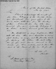 R. M. Patterson to Washington Tyson, 11/19/1841