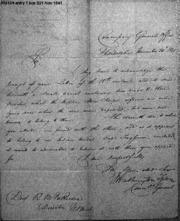 Washington Tyson to R. M. Patterson, 11/24/1841