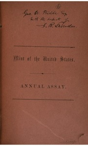 Mint of the United States Annual Assay