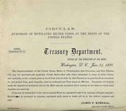 Purchase of Mutilated Silver Coins at the Mints of the United States