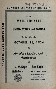 188th Mail Bid Sale: United States and Foreign