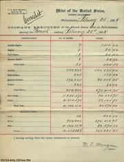 U.S. Mint Die Records