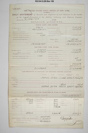 Cashier's daily report (New York Assay Office).