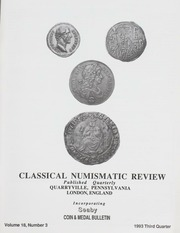 The Classical Numismatic Review: Vol. 18 No. 3