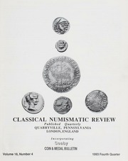The Classical Numismatic Review: Vol. 18 No. 4