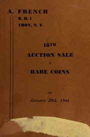 18th auction sale of rare coins. [01/29/1944]