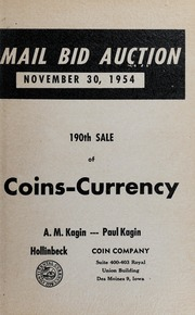 190th Sale of Coins, Currency