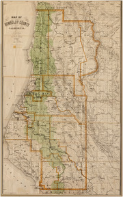 1914 lentell humboldt county map friends of the redwood