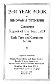 1934 - JW Yearbook : watchtower : Free Download, Borrow, and
