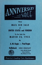 193rd Mail Bid Sale of United States and Foreign