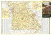 Missouri Highway Map Missouri State Highway Commission - Missouri highway map