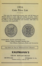 1956 Coin Price List [Fixed Price List]