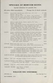 Steinberg's Fixed Price List: 1962