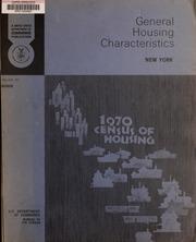 1970 census of housing. Gen...