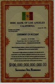 1972 USA HSBC Bank Of Los Angeles California Statement Of