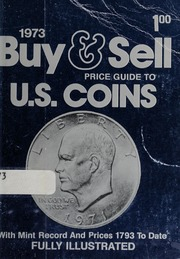 1973 Buy & Sell Price Guide to U.S. Coins