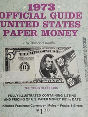 1973 Official Guide United States Paper Money