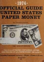 1974 Official Guide United States Paper Money