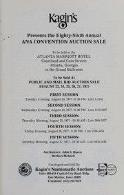 1977 A.N.A. Auction Catalog: Volume I, Session 1