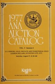 1977 A.N.A. Auction Catalog: Volume V, Session 5