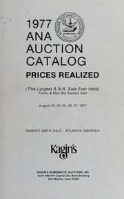 1977 A.N.A. Auction Catalog Prices Realized