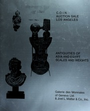The 1978 C.O.I.N. auction sale : antiquities of Asia and Egypt scales and weights. [06/11/1978]