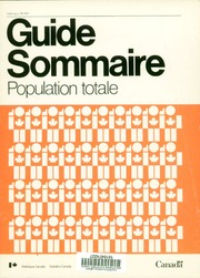 Guide sommaire : population totale.