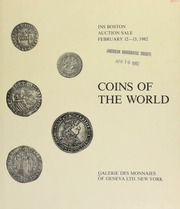1982 Boston auction sale : coins of the world, Latin America, Europe, Asia and Africa ... [02/12-13/1982]
