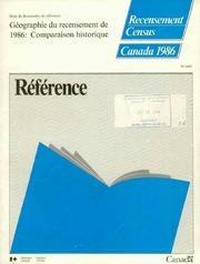 Géographie du recensement de 1986 : comparaison historique.