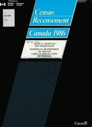 Guide à l-intention des utilisateurs : données du recensement de 1986 sur l-âge, le sexe et l-état matrimonial.