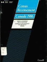 Guide à l-intention des utilisateurs : données du recensement de 1986 sur le revenu.