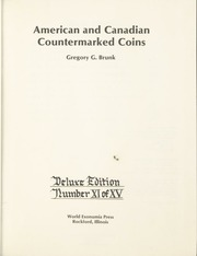 American and Canadian Countermarked Coins