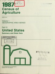 1987 census of agriculture united states bureau of the census free