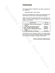 1988 Toyota Mr2 Aw11 Repair Manual W Free Download Borrow And Streaming Internet Archive