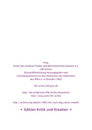 Aus den MfS-Akten der DDR zum Arbeitskreis Gerechtigkeit Leipzig - Rainer Mueller