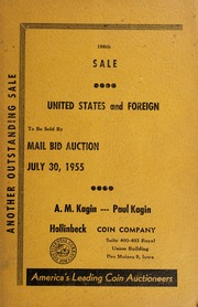198th Sale: United States and Foreign To Be Sold By Mail Bid Auction